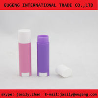 young girl tube empty lip balm containers