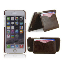 Top quality phone case with pocket leather phone case for Iphone6 with stand function
