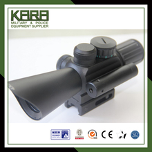 Tactical dual illuminated rifle scope with red dot laser sight for hunting/4x30mm matte black finish hunting rifle scope