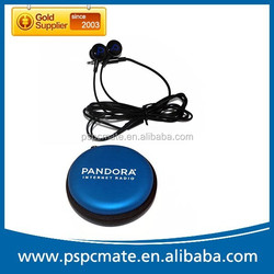 Fashion high quality in-ear wired earphone with PU pouch for mobile phone