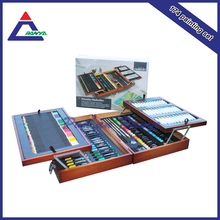 Made in china wood box artist paint set for student