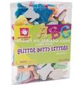 Professionelle& kreative eva-schaum briefe glitzer sticker in PVC-Box