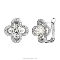 [Special] fine 925 sterling silver tiny flower CZ earring jewelry
