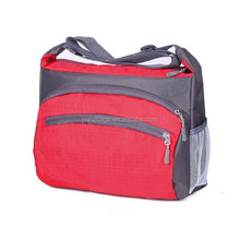 Red Zipper Bag Oxford Fabric Shoulder Bag