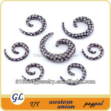 TP02253 UV acrylic skull earrings for men