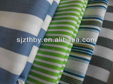 2014 hot sale poly/cotton printed fabric with stripes made in China