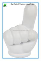 7x4.2x11.8cm customized PU stress ball index finger/kids gifts PU foam index finger/kids toys PU anti stress index finger shape