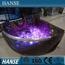 HS-B219 double corner bathtub/ cheap whirlpool bathtub/ corner whirlpool