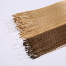 Hot sale Indian micro-ring hair ~ popular human remy hair extention