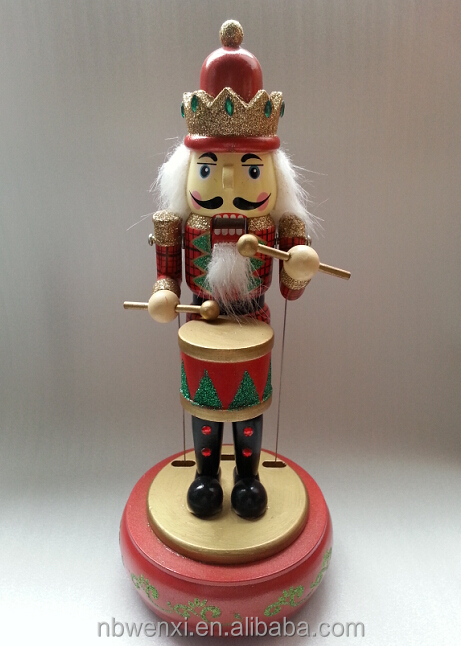 Traditional wooden christmas soldier nutcracker toy with music gifts ...