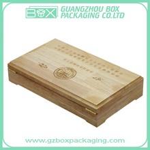 Caja de madera con grabado láser para envoltura de regalos