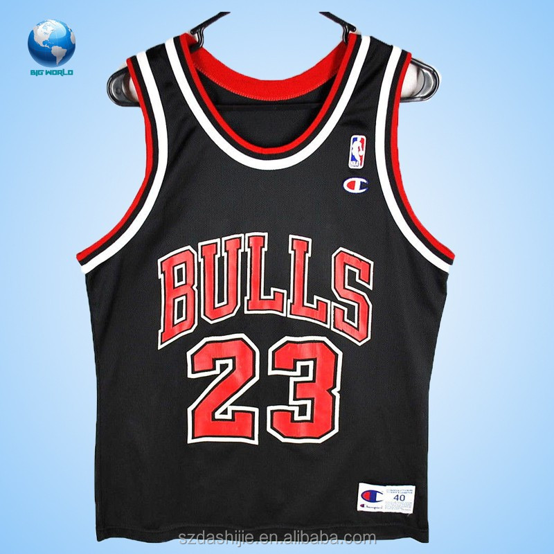 Michael jordan 23 black jersey basketball youth top for Design your own basketball t shirt