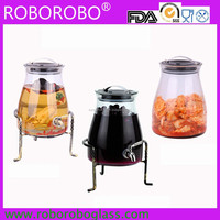 Special High quality juice glass jar with tap