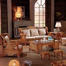 2014 latest sofa design nature indonesian rattan living room furniture sofa set ,solid wood sectional sofa set(902)
