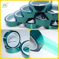 Green High Temperature Polyester Tape For Powder Coating