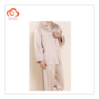 Satin silk Suit pajamas silk suit Cool and Soft for men