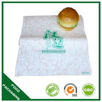 greaseproof custom hamburger wrapping paper with logo