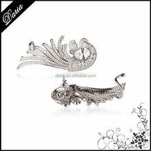 DLY Aliaba express 925 Sterling Silver Fashion Angel Wing & Feather Ear cuff Earrings Jewelry Cheap Ear cuff wholesale