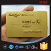 MDC831 new fashion gold foil business card
