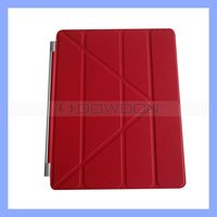 For New iPad 3 Folding Magnetic Transformers Smart Cover Case with Stand, Multifunctional Case
