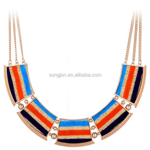 Pattern alloy necklace U shaped ornaments necklace bib necklace