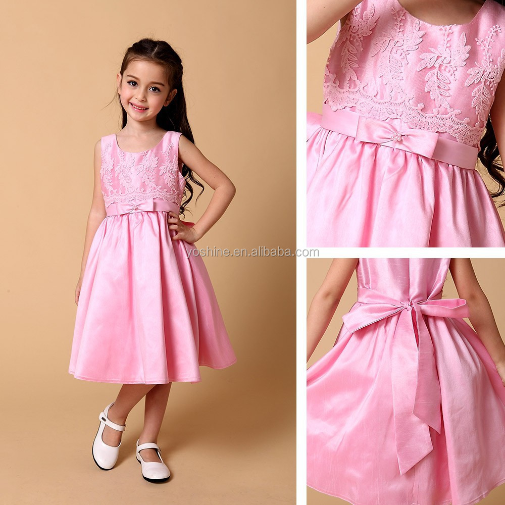 embroidered simple pink pakistani children frocks designs
