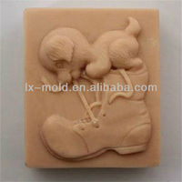 square silicone shoes and dog shaped soap mold