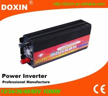 Guangzhou DOXIN Solar Car Power inverter 12v 24v to 220v 1000w without battery