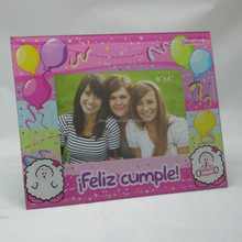 Pink Funny Air Balloon 6x4 Glass Photo Picture Frame For Childern's Day Gifts