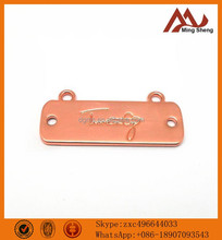 offer zinc alloy shiny copper luggage tags