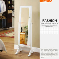 fashion antique french mirrored wardrobe armoire china factory hot sale