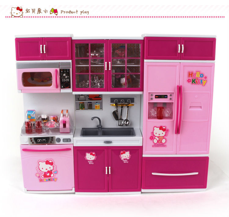 2014 new hello kitty happy kitchen set toy for children toy for girl