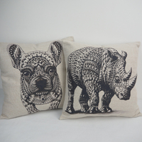 Throw home decor pillow case wholesale hotel chair new design cushion cover