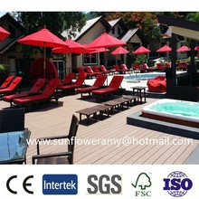 Good Exporter hollow wpc decking floor,carbonized thermowood decking material