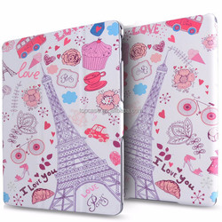 leather case for ipad air 2 custom printed design tablet cover case china manufacturer 2015
