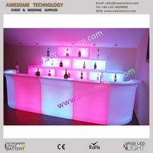 glow party furniture portable illuminated led bar counter