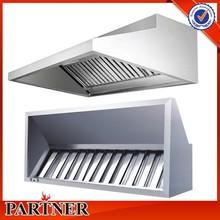 Custom new design stainless steel commercial kitchen range hood