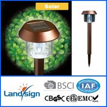 Cixi new outdoor park lighting outdoor light series XLTD-300SC copper finish mushroom solar light outdoor