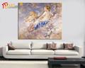Sexy cuadro abstracto mujeres desnudas y palomas pintura al óleo sobre lienzo
