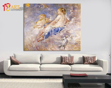 Sexy abstract picture nude women and pigeons oil painting on canvas