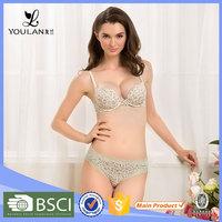 Factory Direct Sale Fashionable New Model Bra Set Lace Trim Panty Bra Set