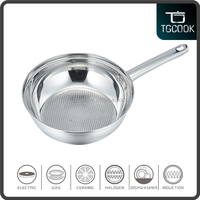 Stainless Steel Cooking Frying Pan For Induction Cooker