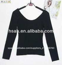 /damas de manga larga mujer de punto t- shirt blusas y camisetas de tirantes