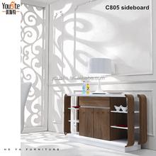 oak wood furniture buffet cabinet for kitchen teak buffet sideboards C805