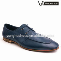 Hot selling leather men shoes with unique camouflage sole