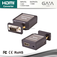 Mini VGA and 3.5mm Audio to HDMI Converter Adaptor for PC HDTV