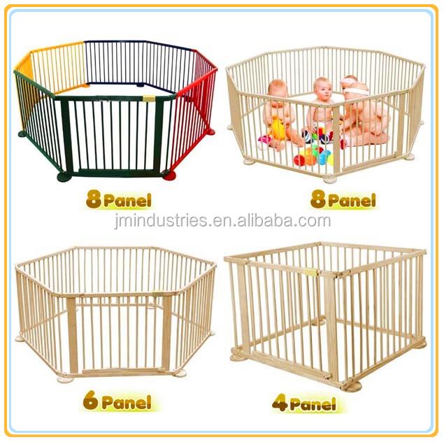parc b b en bois multicolore pour b b parc b b id de. Black Bedroom Furniture Sets. Home Design Ideas