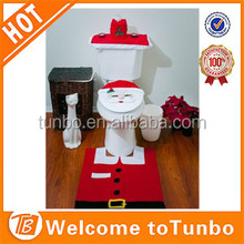 2015 Hot Sale Santa decor Toilet Seat Cover Wholesale Christmas Home Decoration