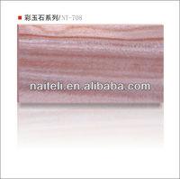 2014 Latest Decorative Backlit Translucent Resin fire resistant stone
