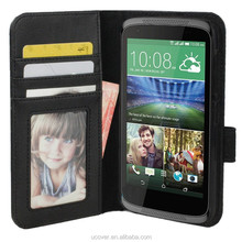 For HTC Desire 526G Plus Wallet Folio Stand PU Leather/Real Genuine Leather Moblie Protective Cover Case Sleeve